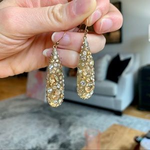 Alexis Bittar Studded Lucite Gold Drop Earrings